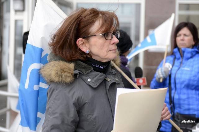 La présidente du syndicat Martine Côté... (Archives Le Quotidien, Jeannot Lévesque)