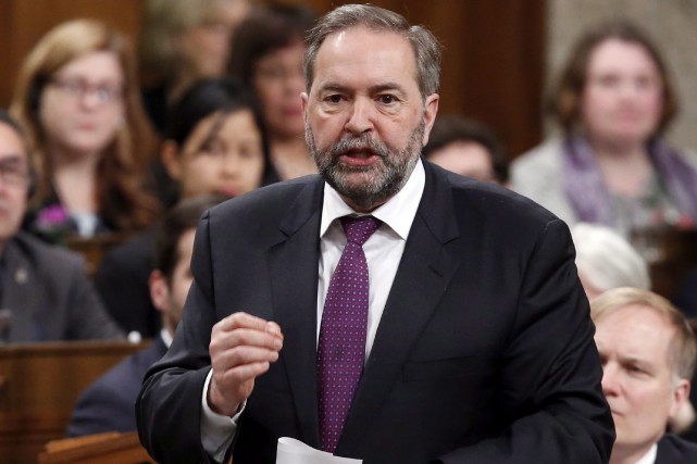 Le chef Thomas Mulcair (photo) a des «comptes... (La Presse Canadienne, Fred Chartrand)