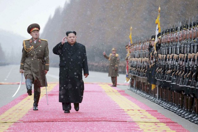 Kim Jong-Un... (PHOTO REUTERS/KCNA)