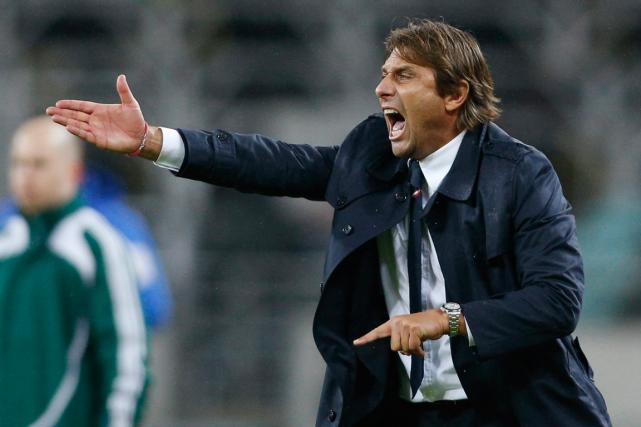 Le sélectionneur de l'équipe d'Italie, Antonio Conte.... (Photo Mindaugas Kulbis, archives AP)