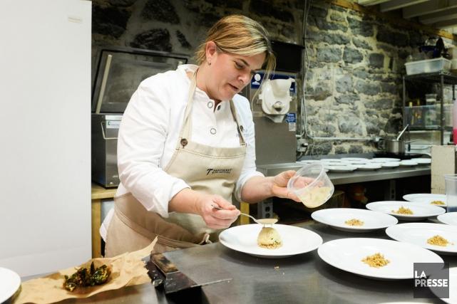 Très inspirée par la cuisine turque, la chef... (PHOTO BERNARD BRAULT, LA PRESSE)