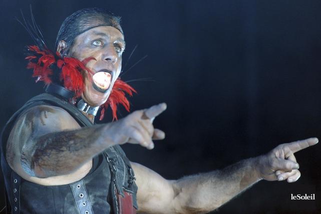 Le chanteur de Rammstein lors de son passage... (Photothèque Le Soleil, Erick Labbé)