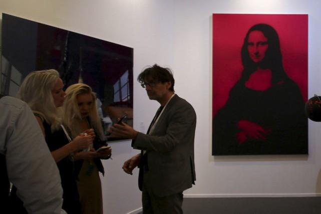 L'oeuvre Mona Lisa rouge de l'artiste russe George... (PHOTO AFP)