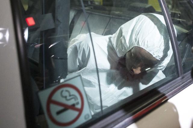 Ayanle Hassan Ali arrive au palais de justice... (La Presse Canadienne, Chris Young)