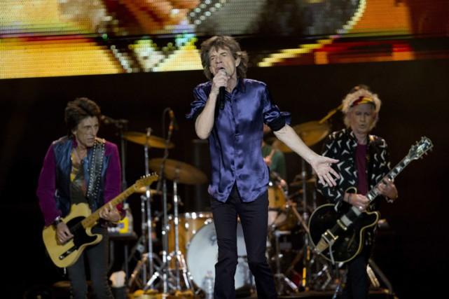 Les Rolling Stones ont effectué un retour triomphal à Mexico, lundi soir, après... (PHOTO AP)