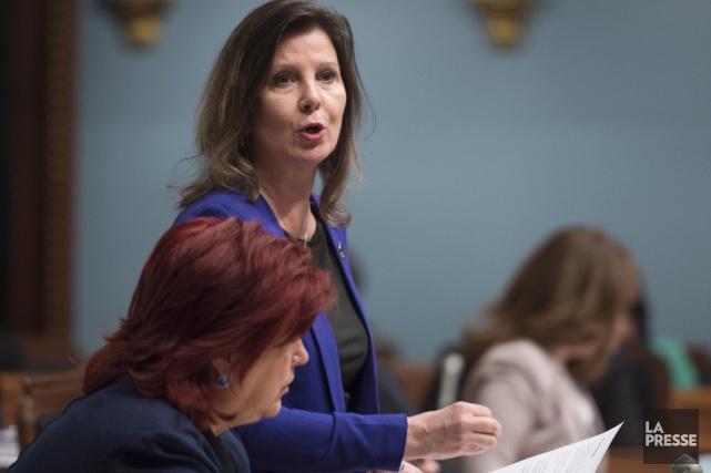 La députée péquiste Diane Lamarre a eu droit... (La Presse Canadienne, Jacques Boissinot)