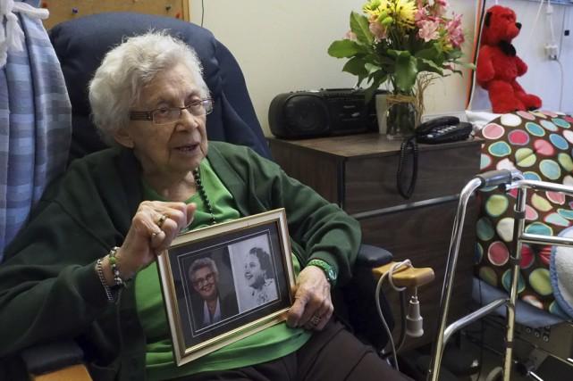 À 91 ans, Fernande Bolduc garde un vif... (photo Alain Dion)