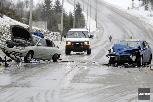 Un accident mortel s'est produit mardi sur le... (Photo Le Quotidien, Jeannot Lévesque)