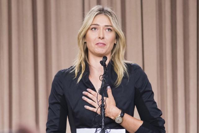 Maria Sharapova, le 7 mars dernier, lors de... (AFP, Robyn Beck)