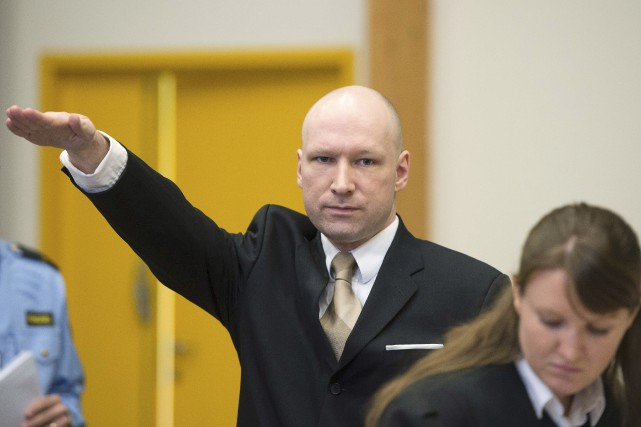 Anders Behring Breivik... (PHOTO JONATHAN NACKSTAND, ARCHIVES AFP)