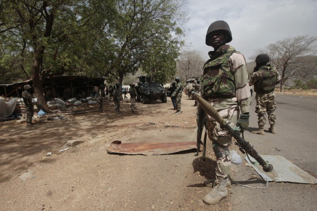 Des soldats nigériens.... (Photo Lekan Oyekanmi, archives Associated Press)
