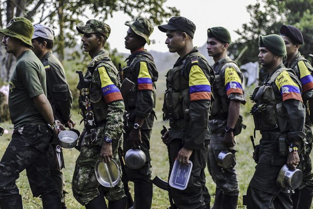 Des membres des Farc.... (PHOTO LUIS ACOSTA, ARCHIVES AGENCE FRANCE-PRESSE)