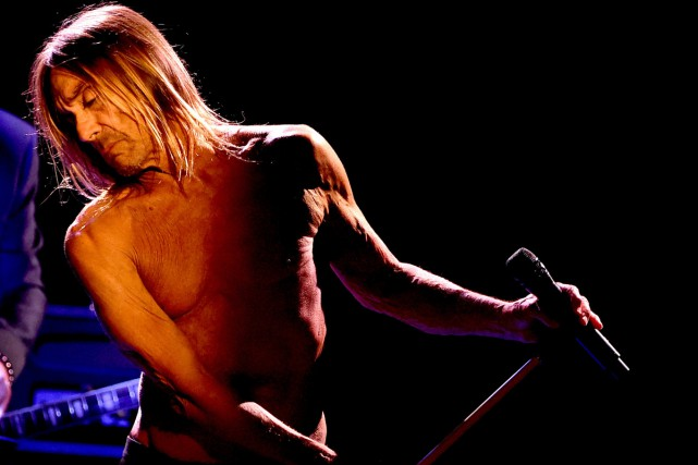 Iggy Pop en spectacle au Teragram Ballroom de... (PHOTO AFP)