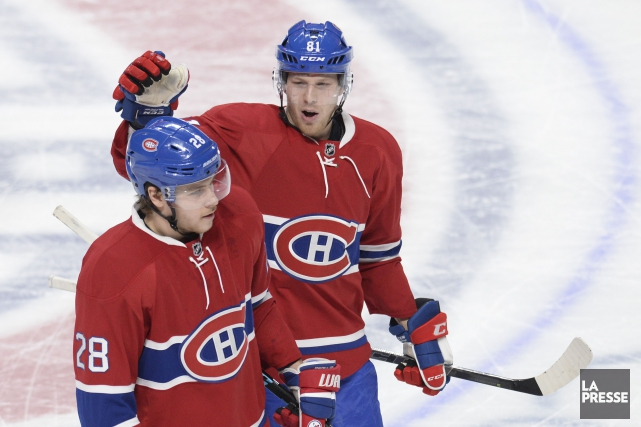 Nathan Beaulieu et Lars Eller... (Photo Bernard Brault, archives La Presse)