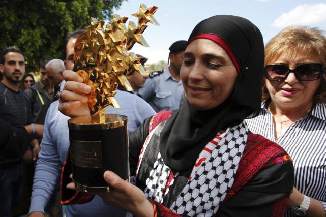 Hanane Al-Hroubest enseignante dans une école de la... (PHOTO ABBAS MOMANI, AFP)