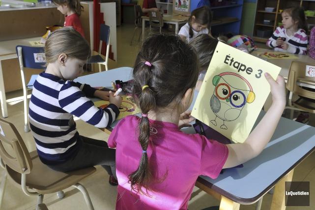 De nombreux enfants de maternelle de la région... (Archives Le Quotidien, Rocket Lavoie)