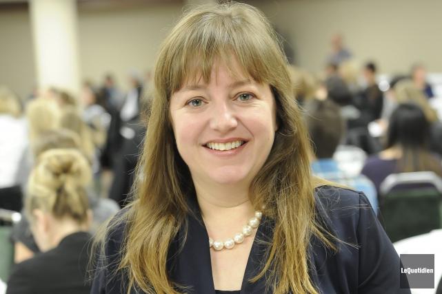 Julie Poissant, experte en périnatalité et en petite... ((Photo Le Quotidien, Gimmy Desbiens))