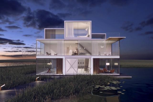 La maison Tetris est conçue pour permettre la... (Univers Architecture)