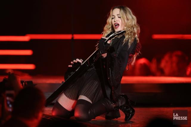 Madonna a amorcé son concert de Brisbane avec... (Archives La Presse)
