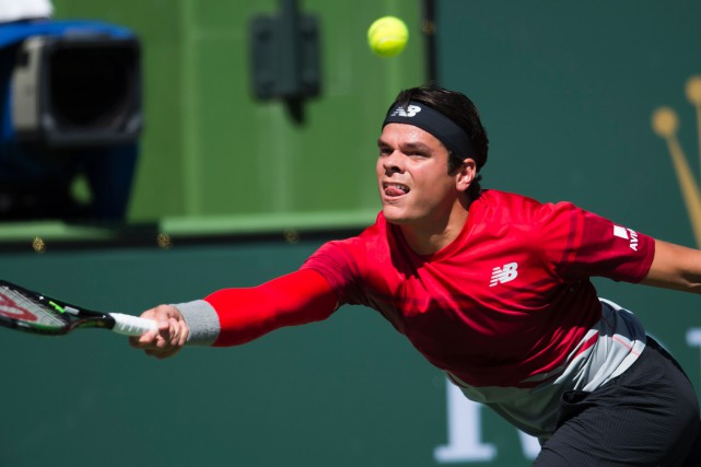 Milos Raonic... (PHOTO ROBYN BECK, AGENCE FRANCE-PRESSE)