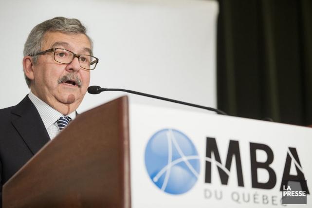 En marge d'une allocution devant l'Association des MBA,... (Édouard Plante-Fréchette, La Presse)