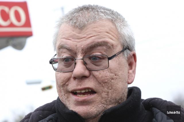 Sylvain Boisvert avait rencontré les médias pour raconter... (Photo archives La Voix de l'Est)