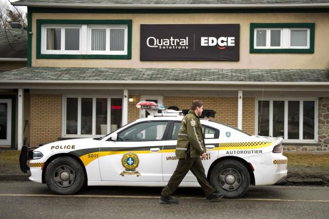 Une perquisition s'est déroulée mercredi dans l'entreprise Quatral... (Spectre Média Jessica Garneau)