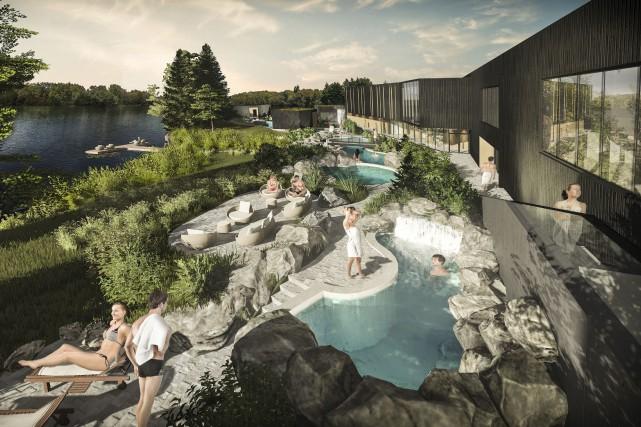 Le spa urbain, qui sera situé en bordure... (Photo fournie)