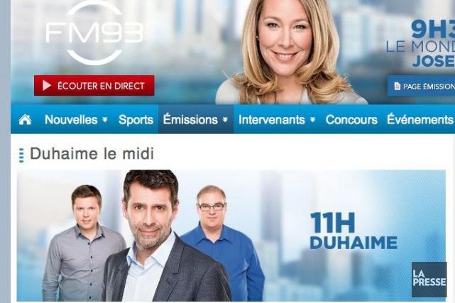 Depuis jeudi matin, l'émission «Normandeau-Duhaime le midi» ne...
