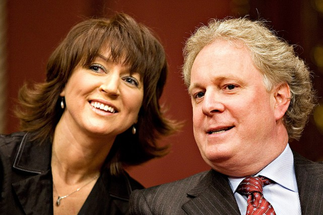 Nathalie Normandeau et Jean Charest, en avril 2007,... (Photo Jacques Boissinot, archives PC)
