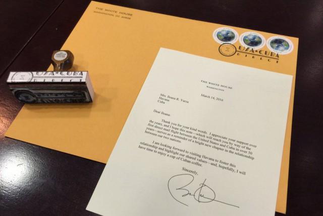 La missive du président américain, dont la Maison-Blanche... (PHOTO TIRÉE DE TWITTER)