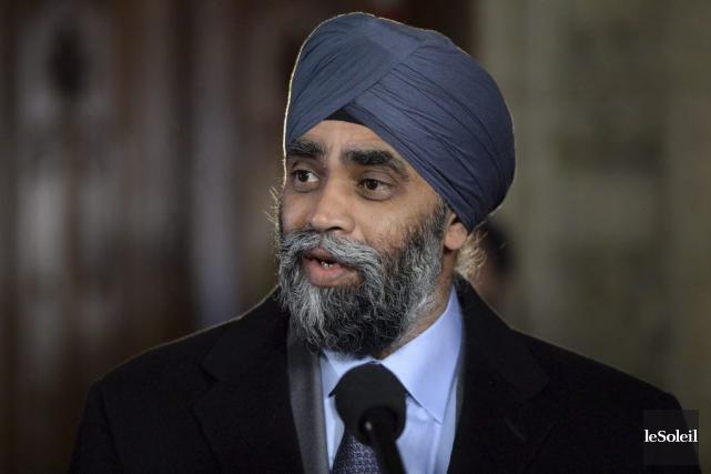 Le ministre de la Défense, Harjit Sajjan.... (Photothèque Le Soleil, PC, Sean Kilpatrick)