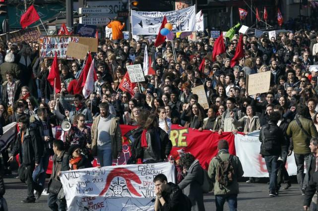 Les manifestations, organisées dans plusieurs villes du pays,... (Photo Francois Mori, Associated Press)