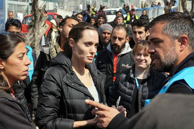 L'actrice Antelina Jolie s'est rendue dans le centre... (PHOTO AFP)