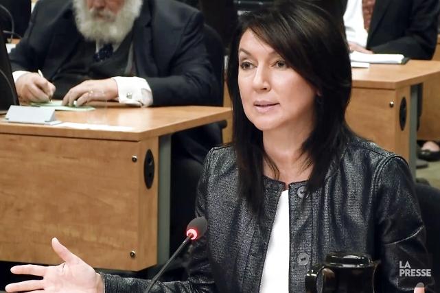 Nathalie Normandeau, lors de son témoignage à la... (IMAGE TIRÉE D'UNE VIDÉO, ARCHIVES LA PRESSE)