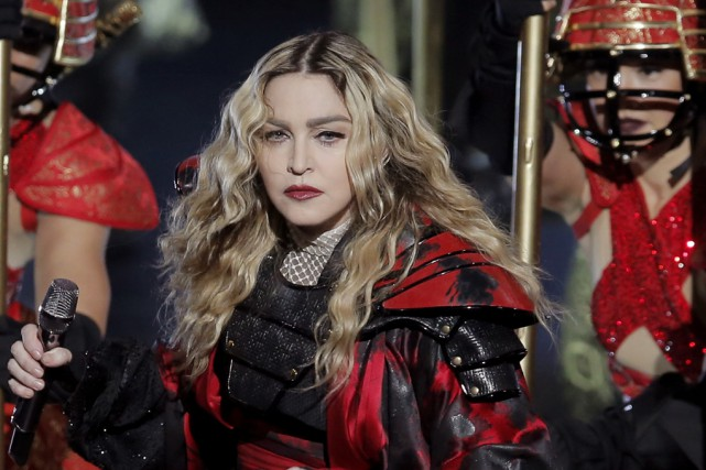 Madonna en spectacle dans le cadre de la... (Archives Associated Press)