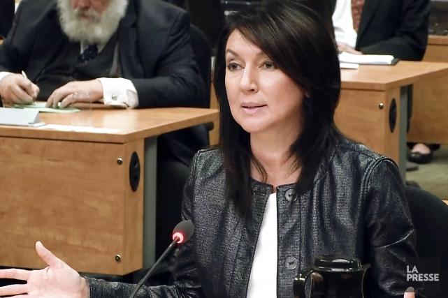 Nathalie Normandeau à la commission Charbonneau, en juin... (IMAGE TIRÉE D'UNE VIDÉO, ARCHIVES LA PRESSE)