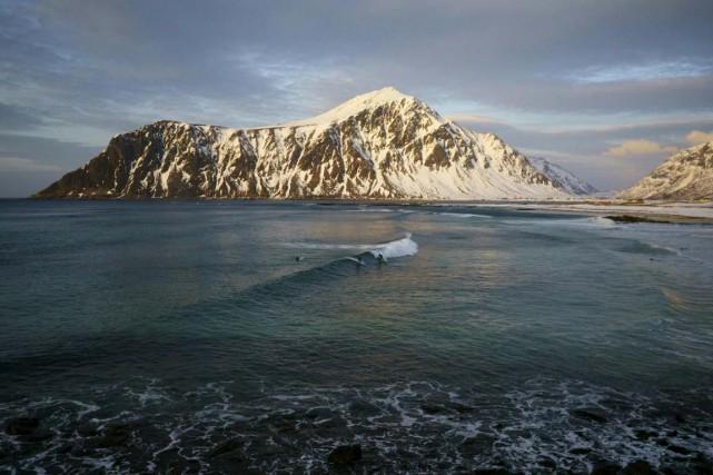 Dans l'Arctique, où la glace de mer a... (Agence France-Presse)