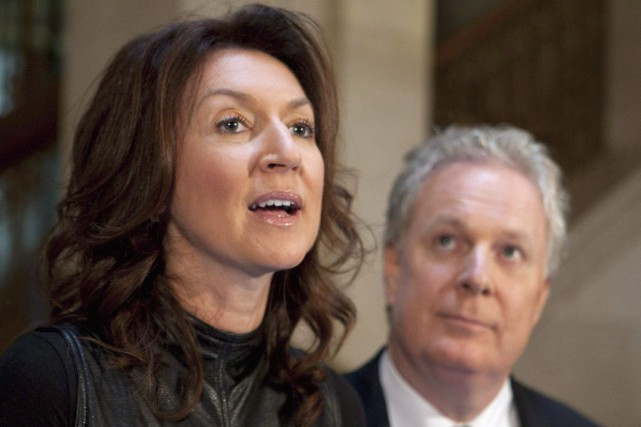 Nathalie Normandeau et Jean Charest en 2011... (Archives La Presse Canadienne, Jacques Boissinot)