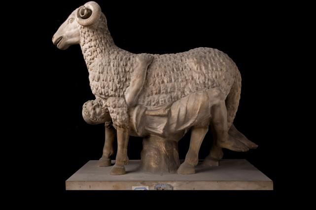 Ulysse entrant dans l'antre de Polyphème... (AFP, fournie par la Fondation Torlonia)