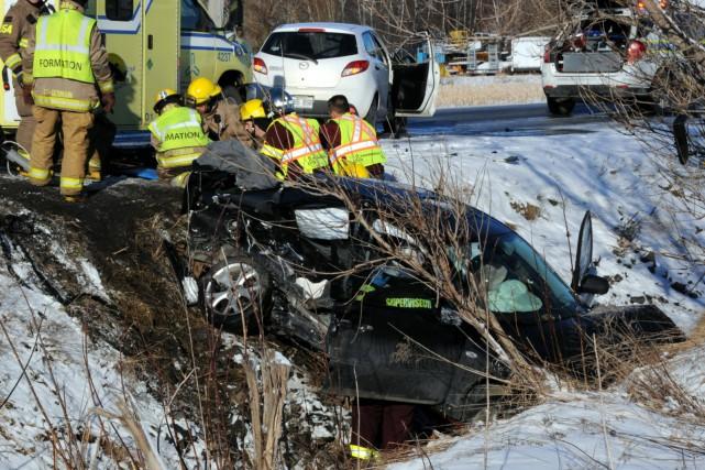 Une adolescente de 14 ans a perdu la vie dans un accident de la route survenu... (Photo collaboration spéciale Éric Beaupré)