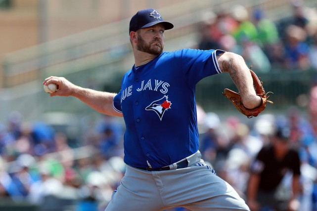 Le lanceur Brad Penny participait au camp des Jays... (Photo Kim Klement, USA Today)