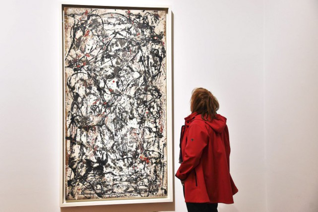 Enchanted Forest de Jackson Pollock.... (PHOTO AFP)