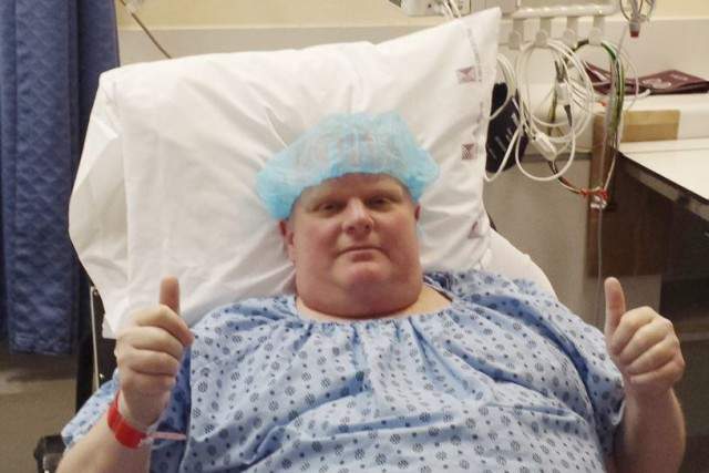 Rob Ford a reçu un diagnostic de cancer en... (PHOTO AP/COURTOISIE)