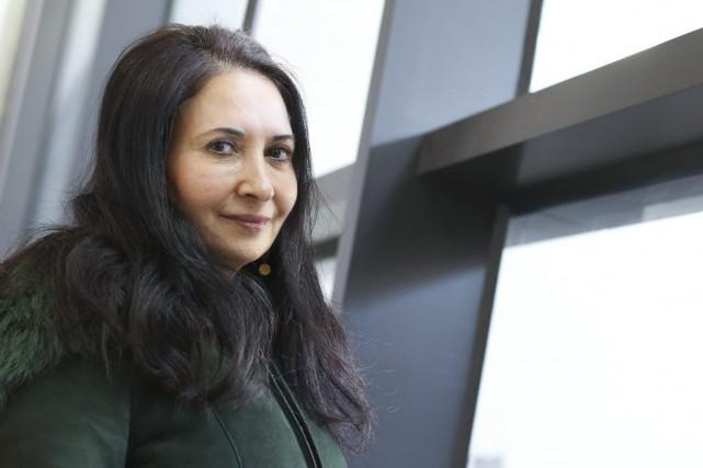 La réalisatrice yéménite, Khadija Al-Salami, est de passage... (Patrick Woodbury)