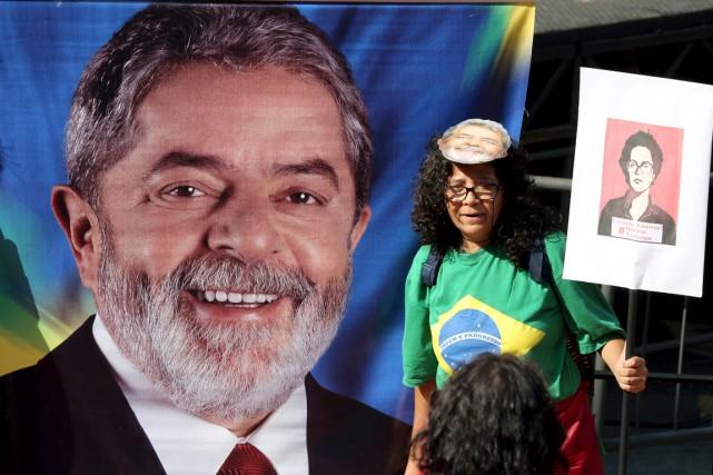 La gauche brésilienne emmenée par son leader charismatique, l'ex-président... (Photo Reuters)
