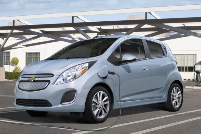 Bromont devrait recevoir ses deux Chevrolet Spark électriques... (photo tirée du site web de General Motors)