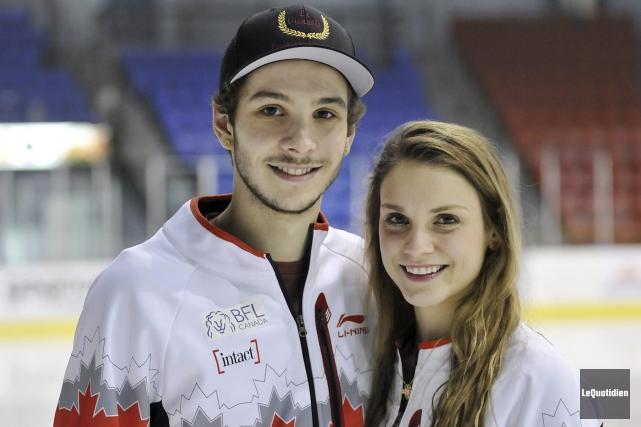 Les athlètes Samuel Girard et Kasandra Bradette.... (Photo Le Quotidien, Rocket Lavoie)