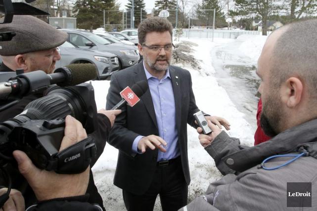 Le maire de Gatineau a défendu le projet... (Patrick Woodbury, LeDroit)