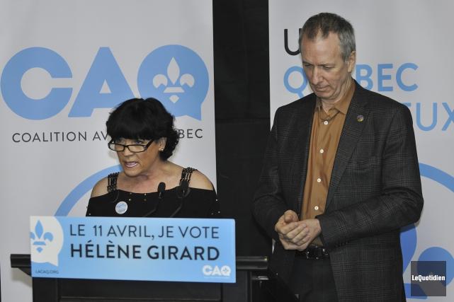 La candidate à l'élection partielle de la Coalition... (Photo Le Quotidien, Rocket Lavoie)
